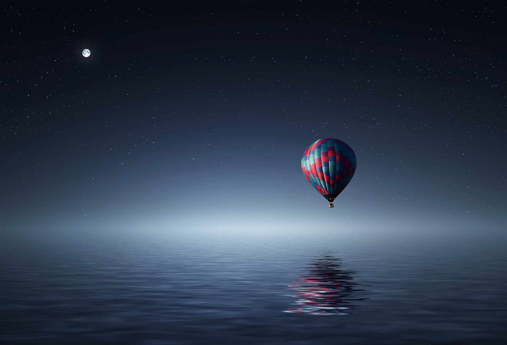 red-and-blue-hot-air-balloon-floating-on-air-on-body-of-36487
